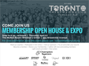 Toronto Triathlon Club - Open House @ Whistler's Grill