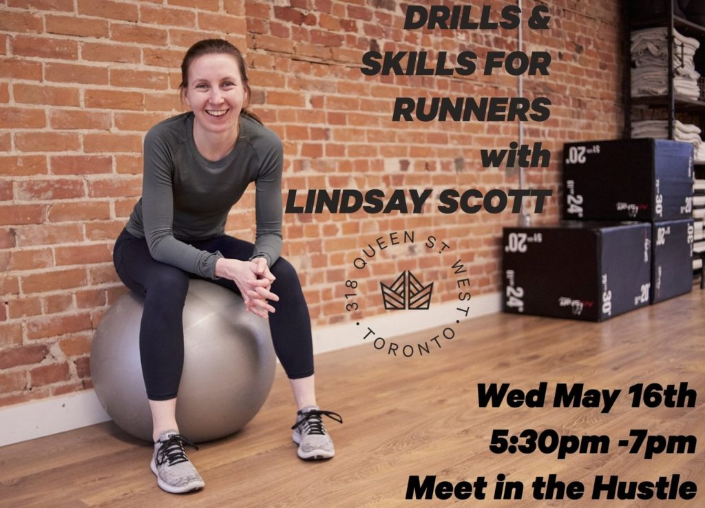 Drills & Skills for Runners @ the hustle, lululemon
