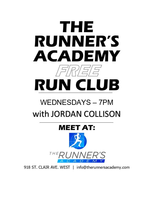 TRA RUN CLUB-Cancelled @ The Runner's Academy